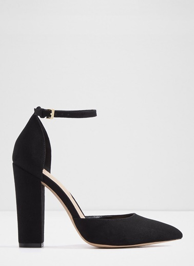 Aldo Kalın Topuklu Abiye Ayakkabı Siyah